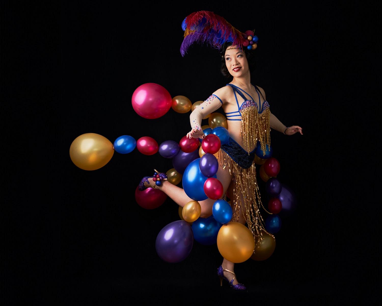 Marianne Cheesecake presents her Berrylicious burlesque act. Photo by John-Paul Bichard.