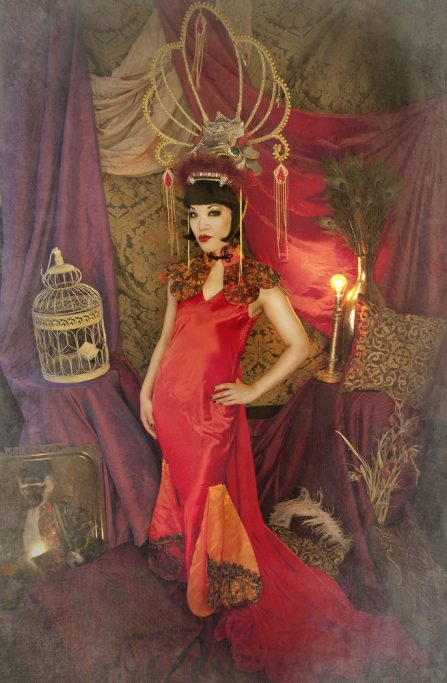 """Marianne Cheesecake pays tribute to Anna May Wong as """"The Dragon Lady""""."""